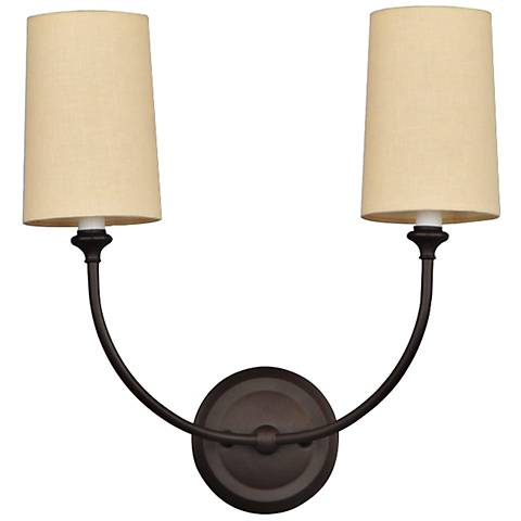 "Crystorama Sylvan 15 1/2"" Wide Bronze 2-Light Wall Sconce"
