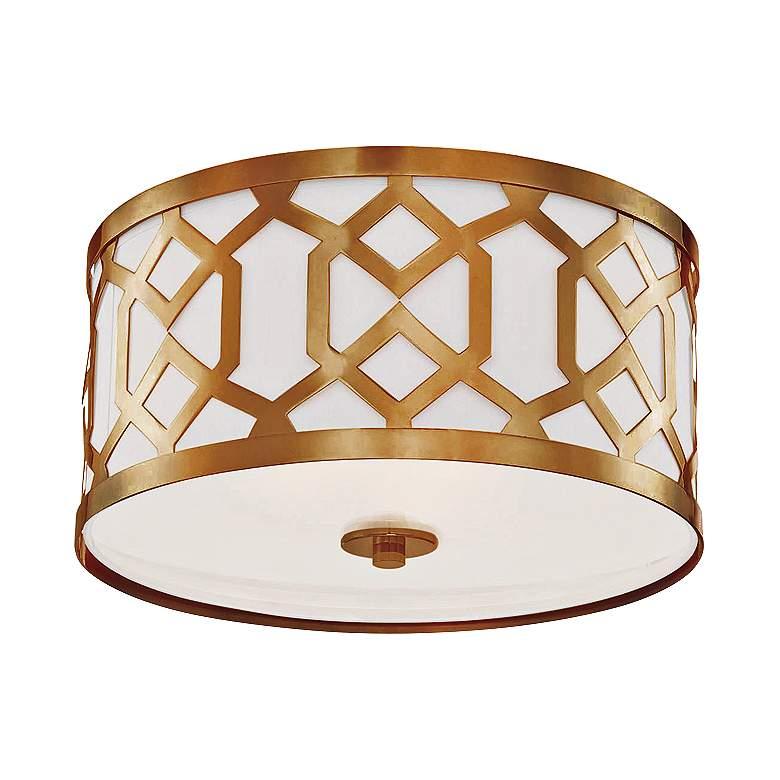 "Crystorama Jennings 16 1/4"" Wide Aged Brass Ceiling Light"