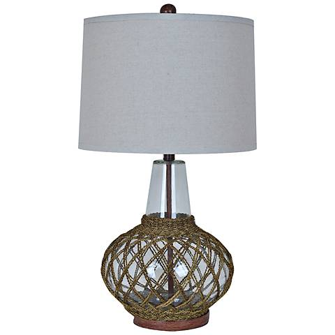 Crestview Collection Willow Glass Table Lamp