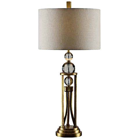 Crestview Collection Rollins Gold Leaf Table Lamp