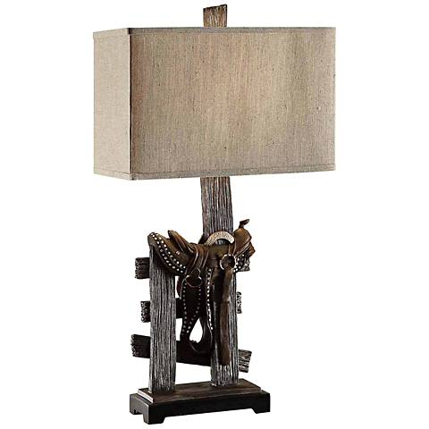 Crestview Collection Saddle Rustic Table Lamp