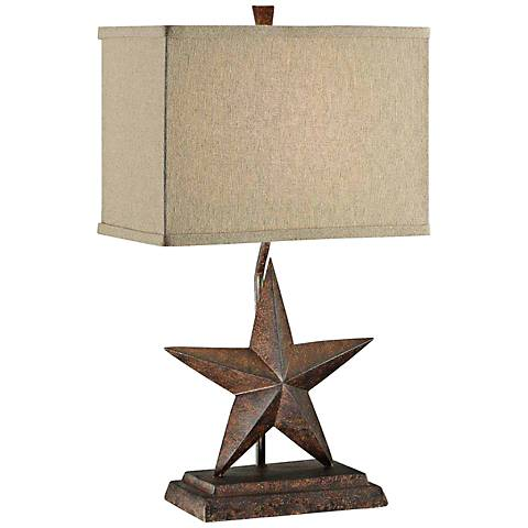 Crestview Collection Rustic Star Table Lamp 7t468 Lamps Plus