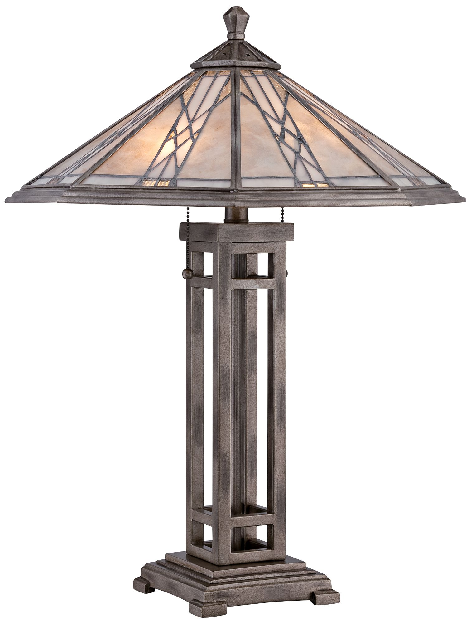 Quoizel Cyrus Anniversary Silver Mission Table Lamp