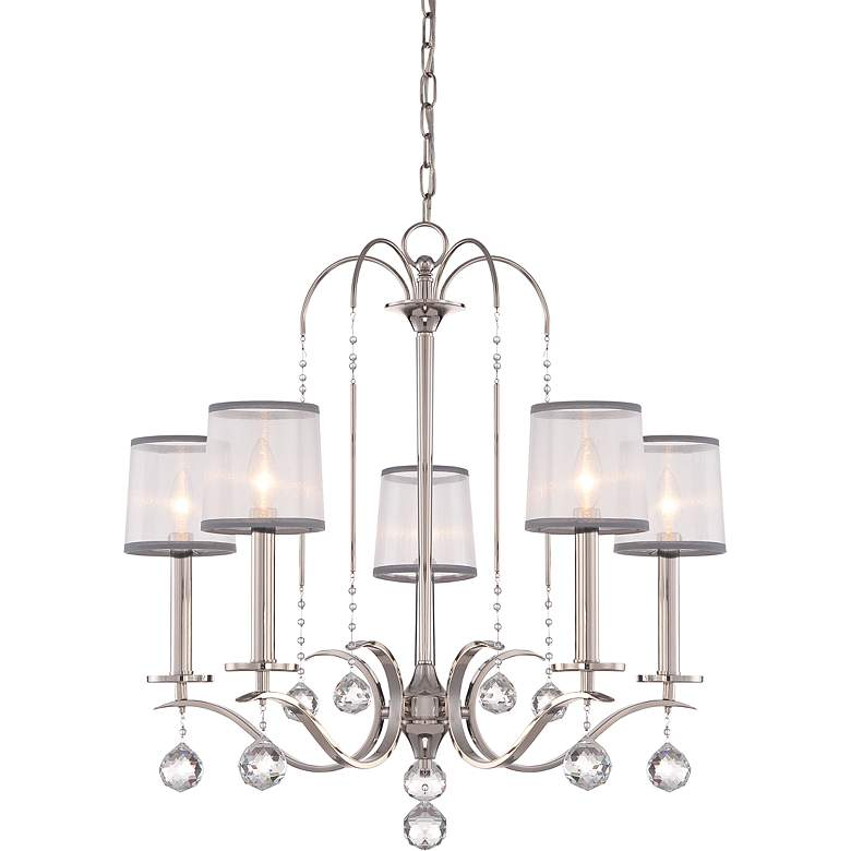 "Quoizel Whitney 28"" Wide Imperial Silver Chandelier"