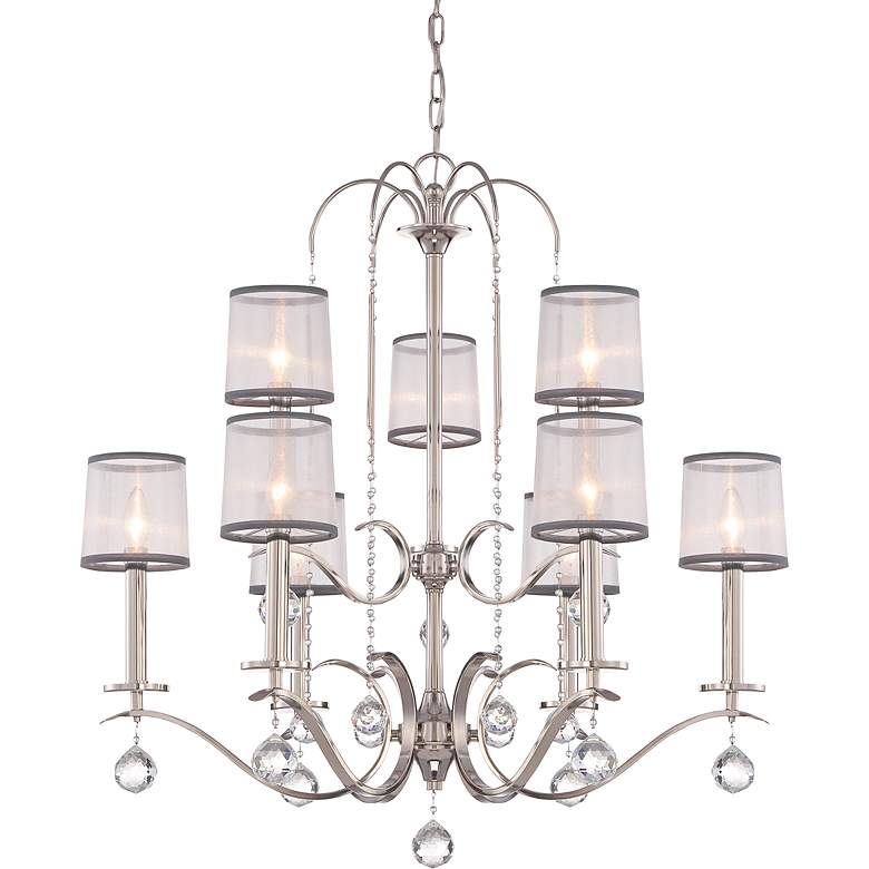"Quoizel Whitney 32"" Wide Imperial Silver Chandelier"