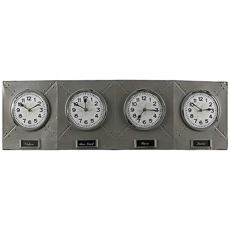 "Terminal 32 1/4"" Wide Wall Clock by Cooper Classics"
