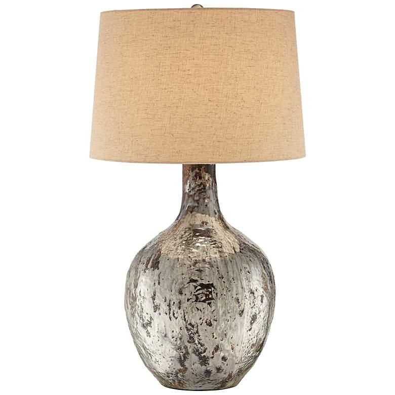 Possini Euro Shea Glass Urn Table Lamp