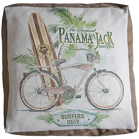 Panama Jack Beachcomber Indoor/Outdoor Pouf Ottoman