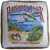 Panama Jack Of All Travels Indoor-Outdoor Pouf Ottoman