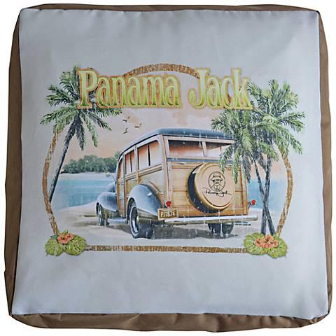 Panama Jack Parrot Indoor-Outdoor Pouf Ottoman