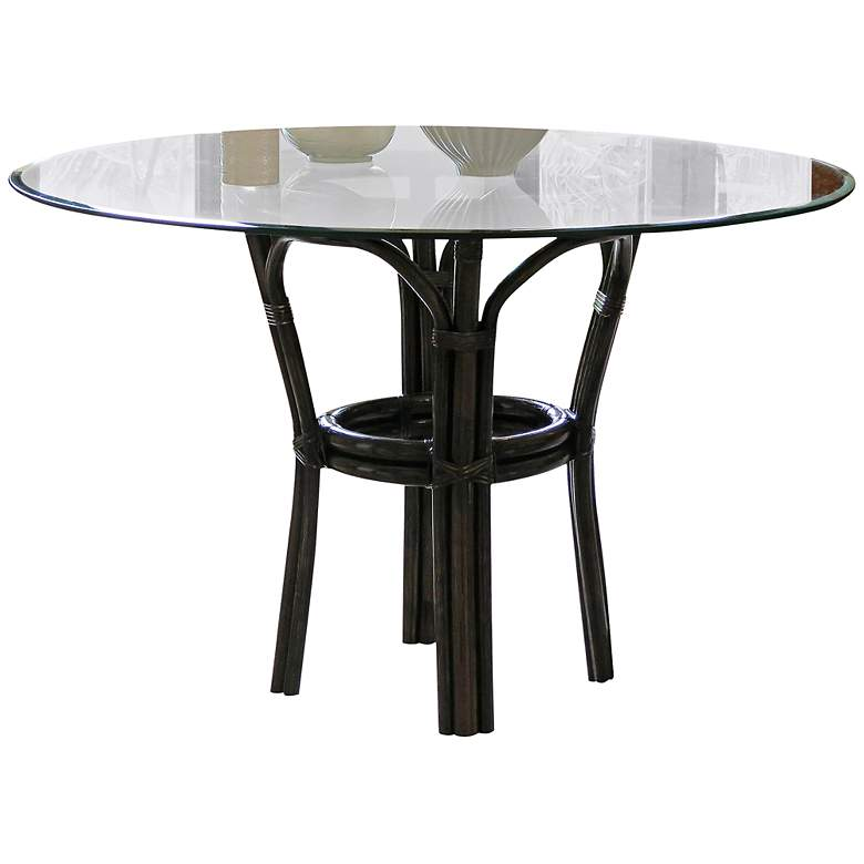 """Sanibel 42"""" Wide Tropical Dining Table by Panama Jack"""