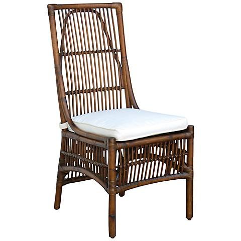 Panama Jack Bora Bora Cushioned Rattan Side Chair