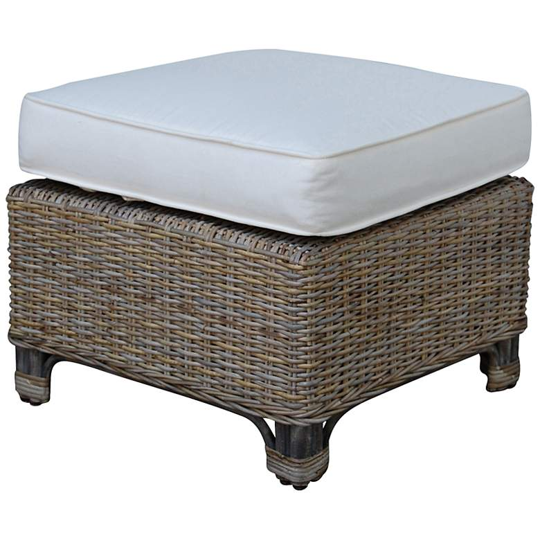 "Panama Jack Exuma 23"" Wide Kubu Gray Wicker"