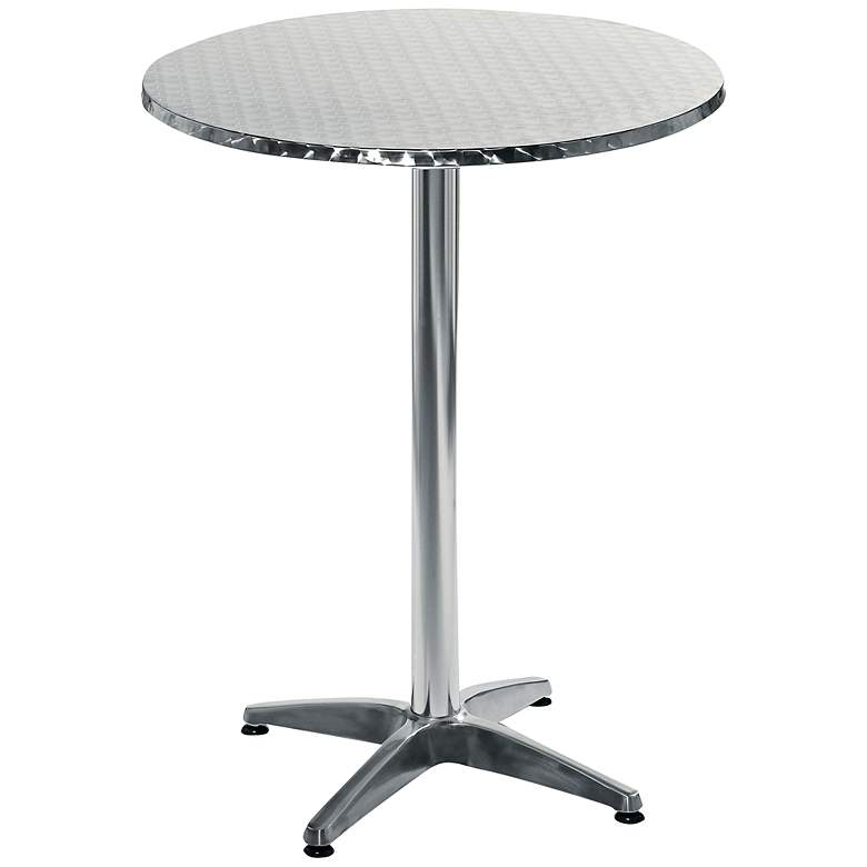 Allan Round Stainless Steel Outdoor Bar Table