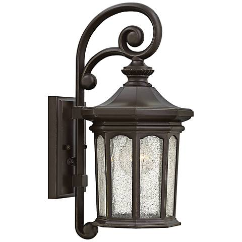 """Hinkley Raley 7 1/4""""W Oil-Rubbed Bronze Outdoor Wall Light"""