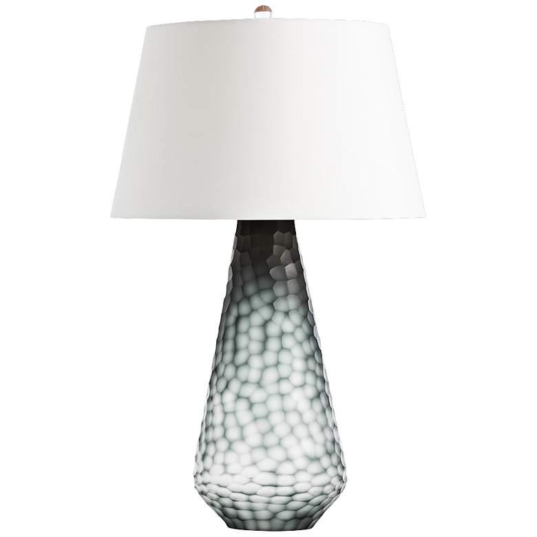 Arteriors Home Nathaniel Black Chiseled Glass Table Lamp
