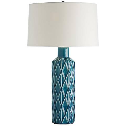 Arteriors Home Nevada Diamond Aqua Table Lamp