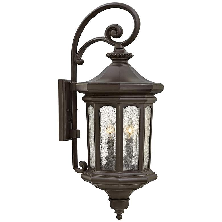 """Hinkley Raley 11 3/4""""W Oil-Rubbed Bronze Outdoor Wall Light"""