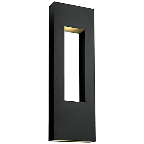 "Hinkley Atlantis 36"" High Satin Black Outdoor Wall Light"