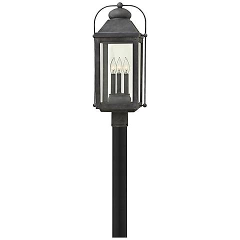 "Anchorage 24 1/4"" High Aged Zinc Outdoor Post Light"