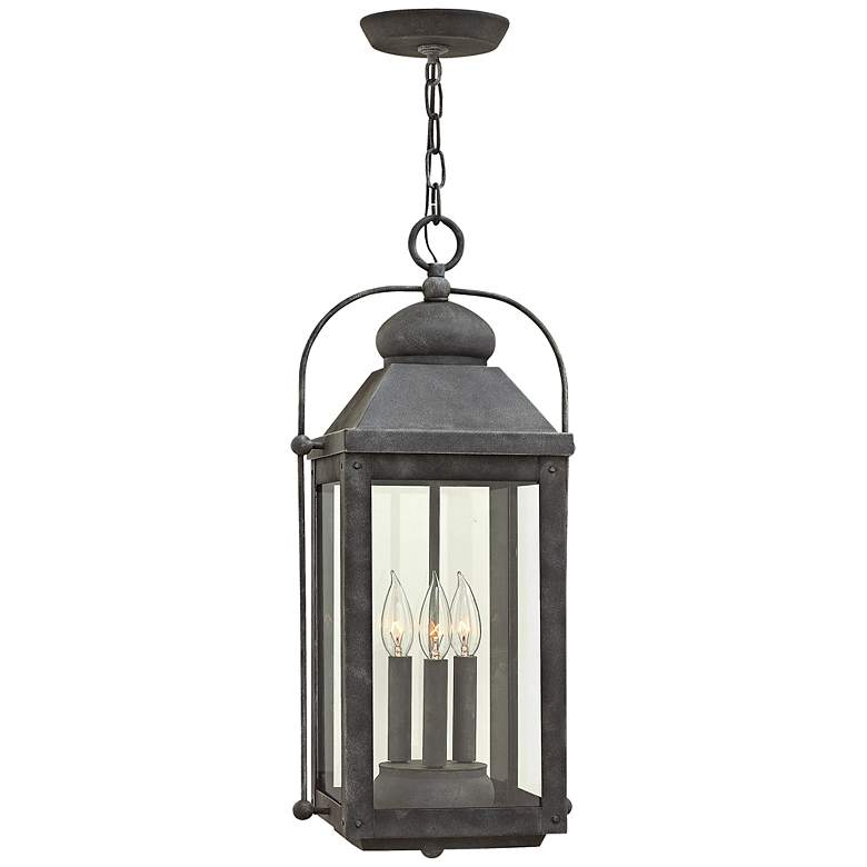 "Anchorage 23 3/4"" High Aged Zinc Outdoor Hanging"