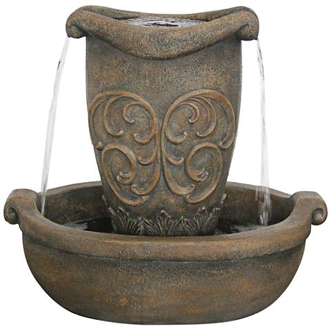 "Bellona 24"" High Two-Tier Fountain"