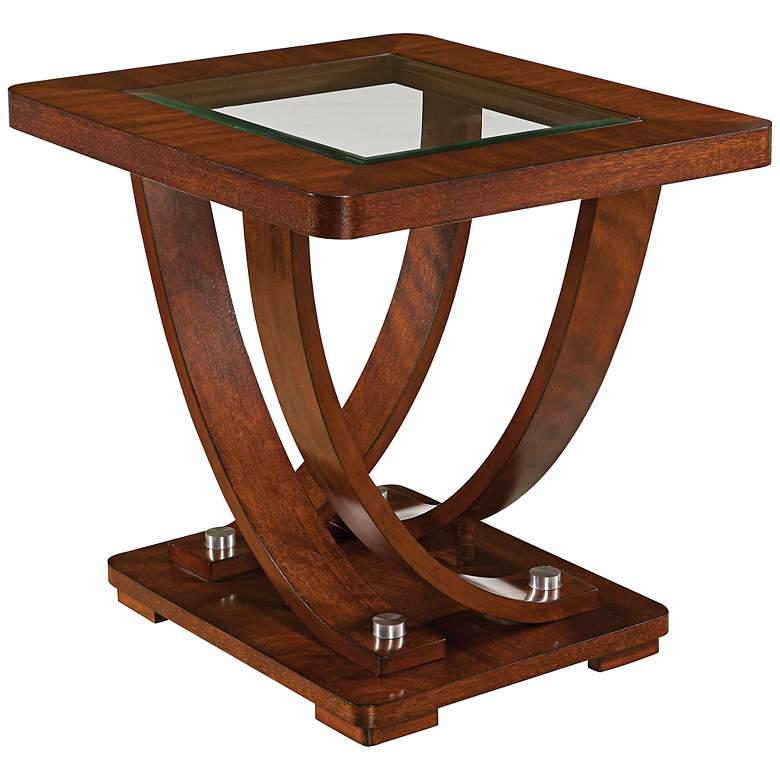 "Pavilion Okoume 23"" Wide Brown Rectangular End Table"