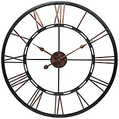 """Metal Fusion 28"""" Round Welded Steel Wall Clock"""