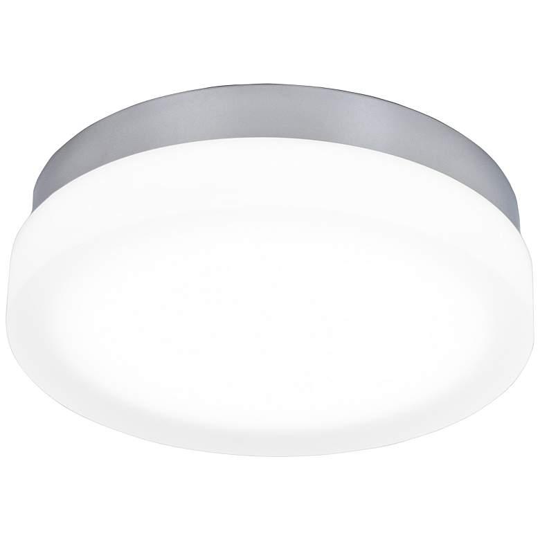 """dweLED Slice 11"""" Wide Chrome Round LED Ceiling Light"""