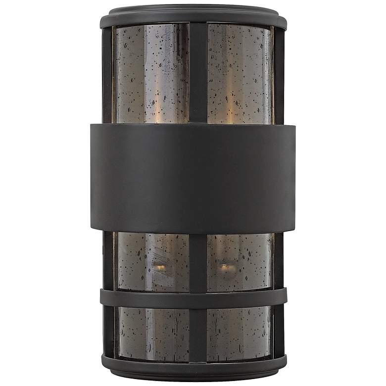 "Hinkley Saturn 7 1/4""W Satin Black Outdoor Pocket"
