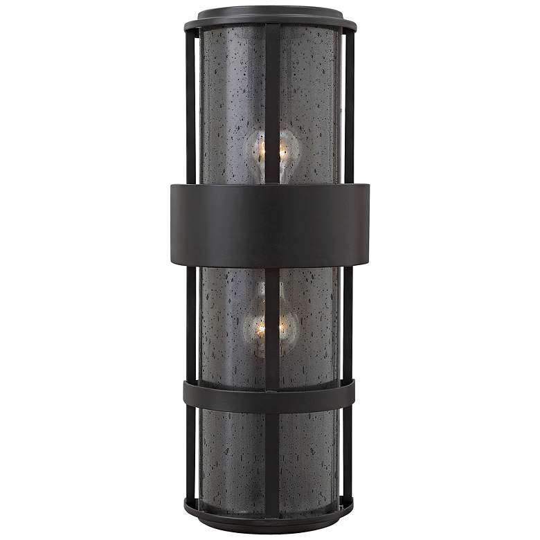 Hinkley Saturn 8w Satin Black Outdoor Pocket Wall Light