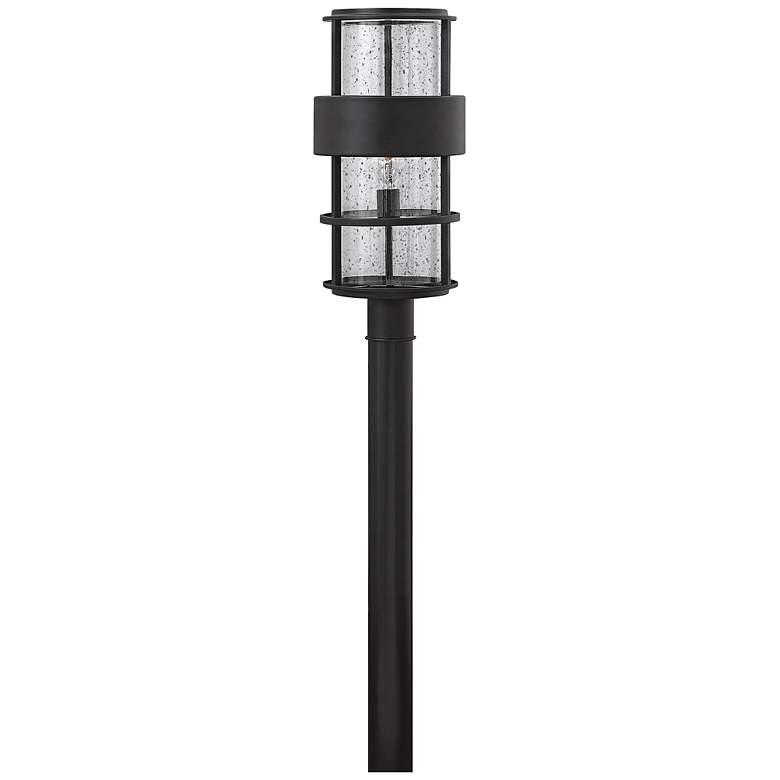 "Hinkley Saturn 21 3/4""H Satin Black Outdoor Post Light"