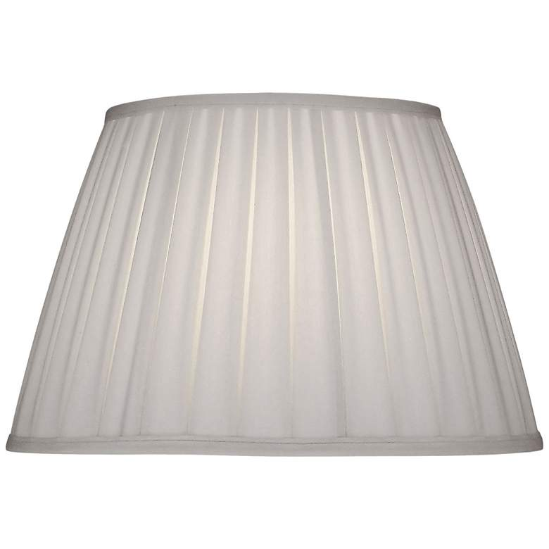 Stiffel Ivory Shadow Box Pleat Empire Shade 11x18x12