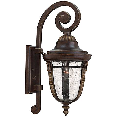 "Hinkley Key West 9""W Regency Bronze Outdoor Wall Light"
