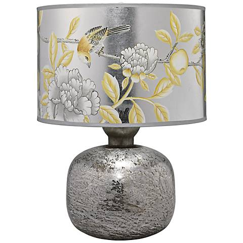 Jamie Young Textured Mercury Glass Floral Table Lamp