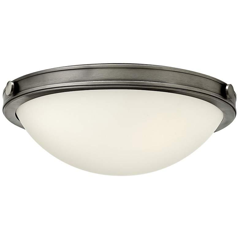 "Hinkley Foyer Maxwell 13 3/4""W Antique Nickel Ceiling Light"