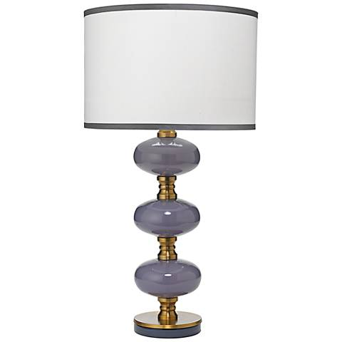 Jamie Young Stockholm Dove Gray Glass Table Lamp