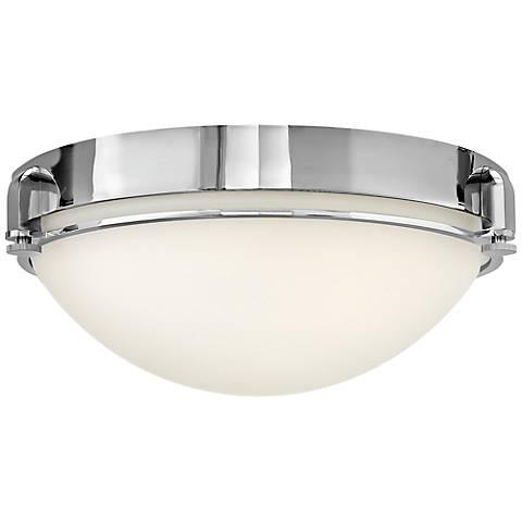 """Hinkley Foyer Logan 16 1/2"""" Wide Chrome Ceiling Light"""