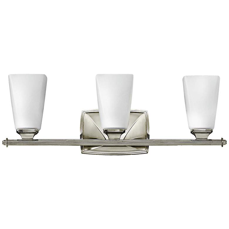"Hinkley Darby 23"" Wide Polished Nickel 3-Light Bath Light"