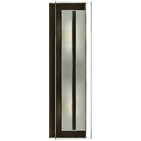"Latitude 21 1/2""H Oil-Rubbed Bronze Rectangular Wall Sconce"