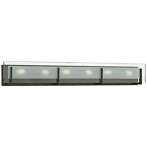 "Hinkley Latitude 37 1/2""W Oil-Rubbed Bronze Bath Light"