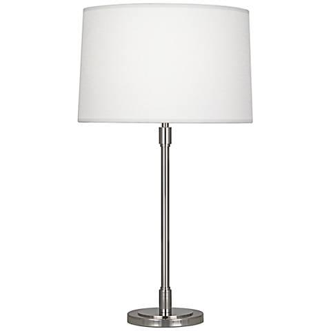 Robert Abbey Bandit Polished Nickel Table Lamp