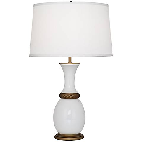 Robert Abbey Ludwell White Glass Table Lamp