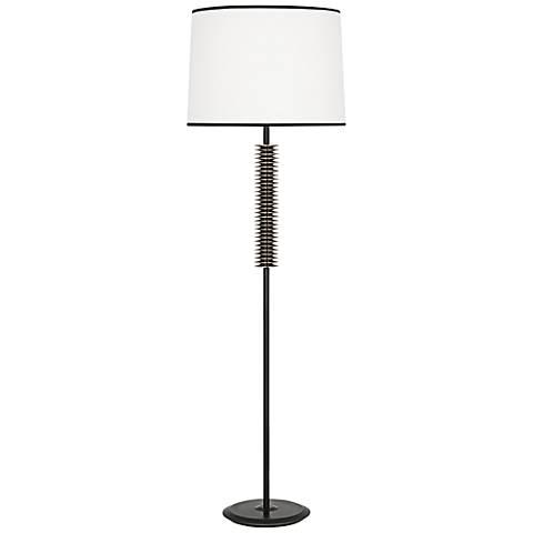 Robert Abbey Plato Bronze and Silver Floor Lamp
