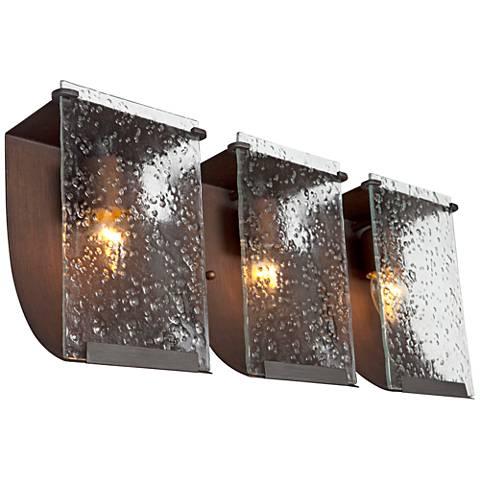"Varaluz Rain 22 3/4"" Wide Hammered Ore Bath Light"