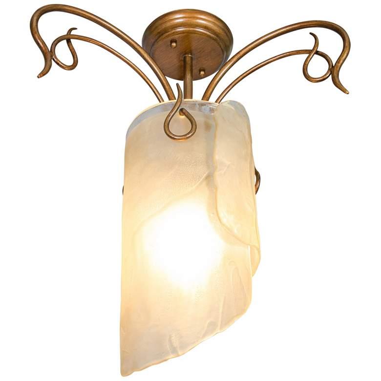 "Varaluz Soho 17 1/2"" Wide Hammered Ore Ceiling Light"