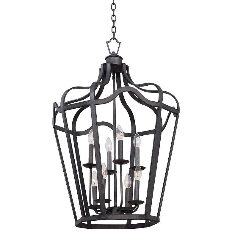 "Livingston Charcoal 21 3/4"" Wide 8-Light Lantern Pendant"