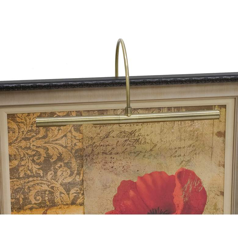 """Advent Profile 16""""W Antique Brass Plug-In LED Picture Light"""