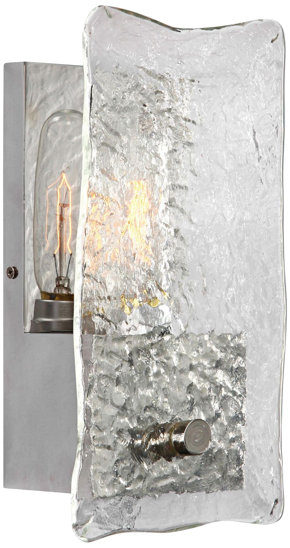 Uttermost Cheminee 11 3/4 H Thick Slump Glass Wall Sconce  sc 1 st  L&s Plus & Uttermost Cheminee 11 3/4