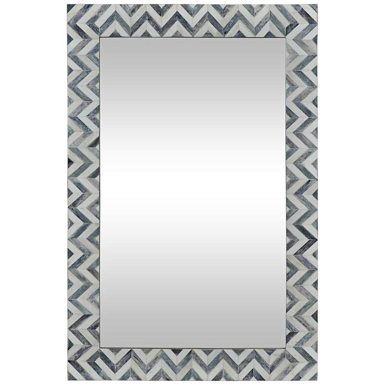 "Abscissa Gray Chevron 24"" x 36"" Rectangular Wall"